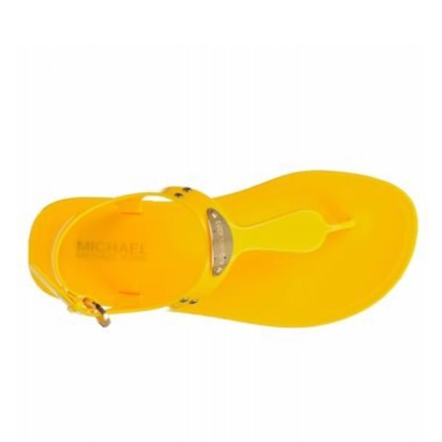 Micheal Kors Jelly Sandals - Yellow