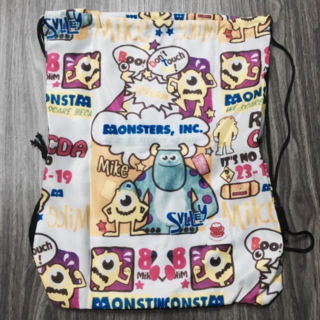 Monsters Inc Drawstring Bag Women S Fashion Bags Wallets On Carou