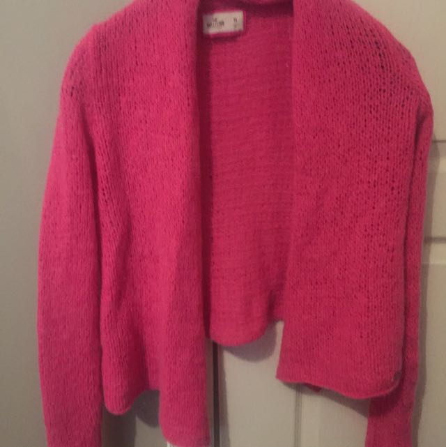 Pink Hollister Knidded Cardigan