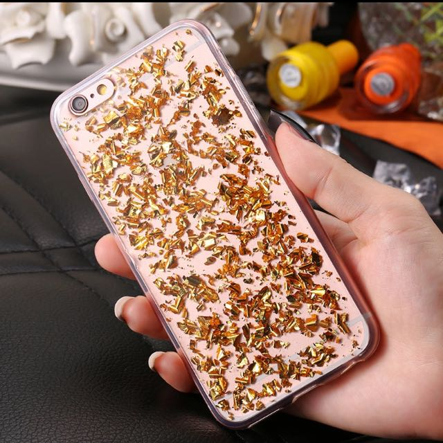 Rose Gold Sequin Soft Silicone Case Suitable for iPhone 6/6s/7