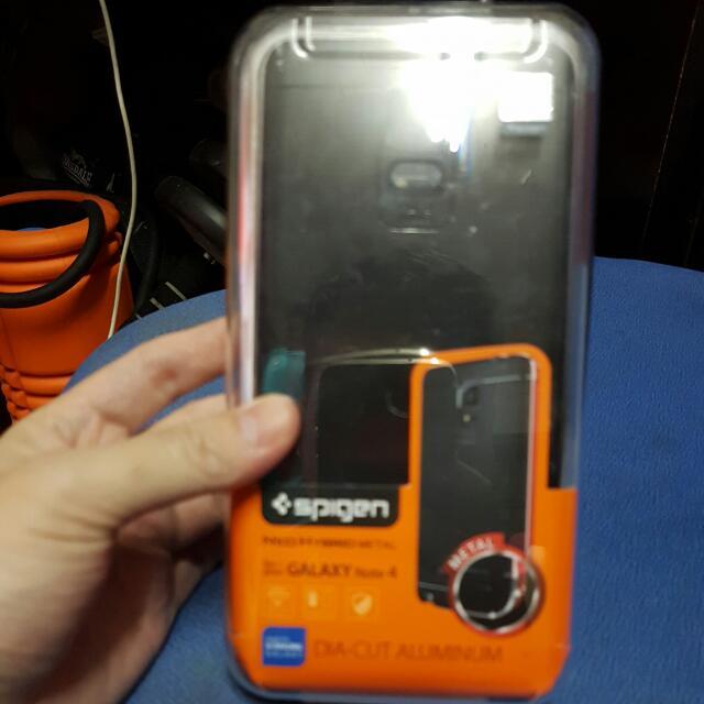 wholesale dealer 5fe50 3bc9a Samsung Note 4 Spigen Neo Hybrid Metal