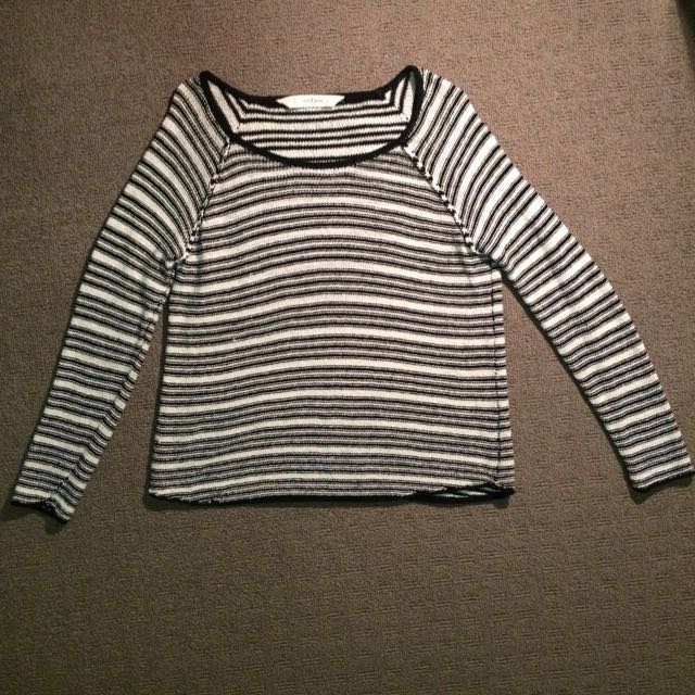 Seed Black and White Striped Jumper (Size S)