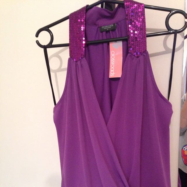 Sequin Purple Shirt