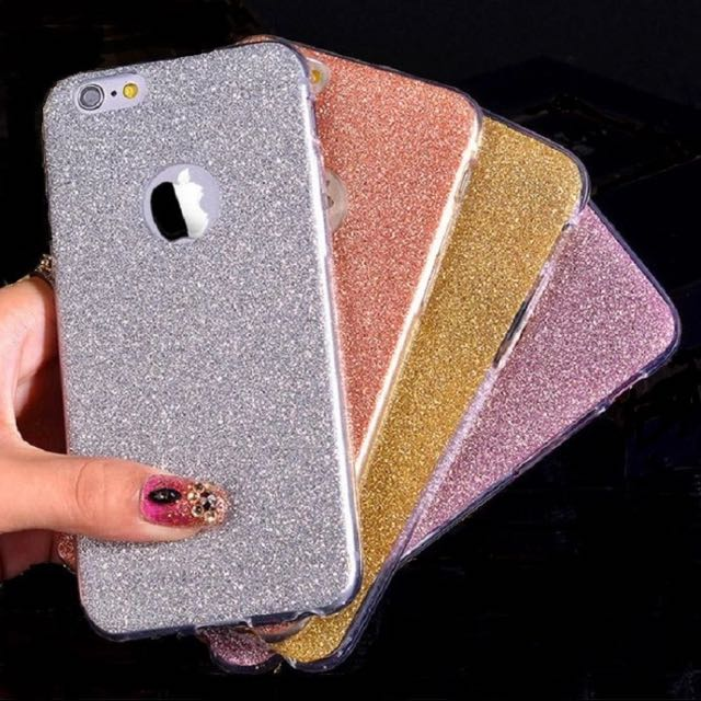 Silver Glitter Soft Silicone Case Suitable For iPhone 6/6s/7