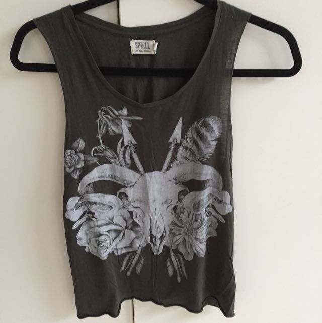 Spell And The Gypsy Collective Grey Singlet Size 8