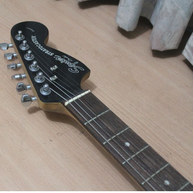 Squier Black Chrome Standard Stratocaster With Fender 97