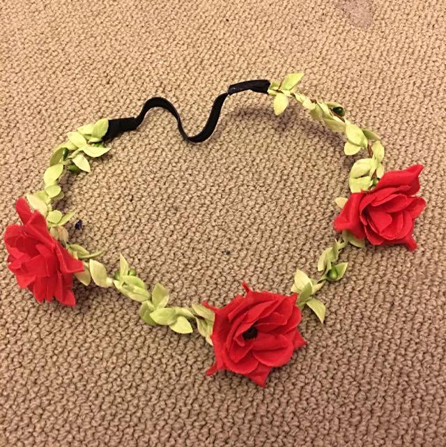 Three Rose Flower Crown