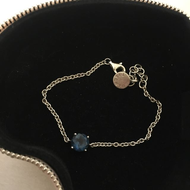 Tisento Sapphire 925 Silver Bracelet Or Anklet