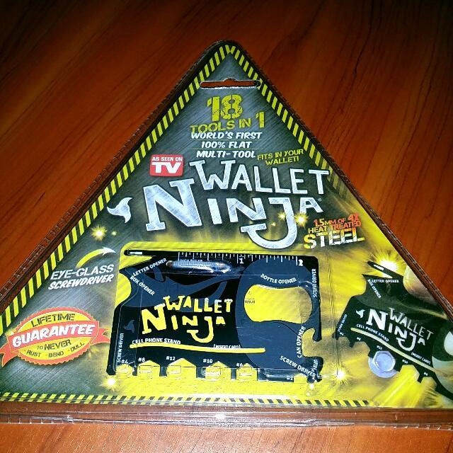 Wallet Ninja Credit Card Size Survival Tool