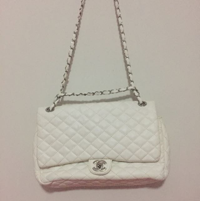 White Fake Chanel Bag