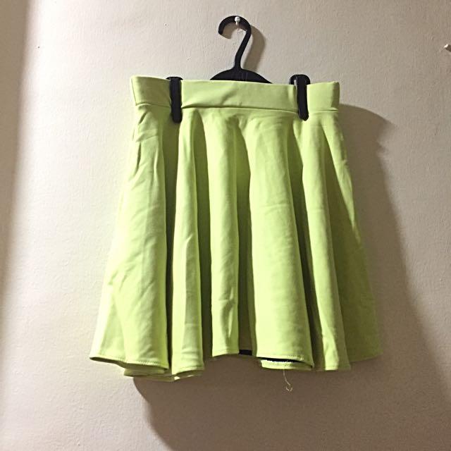 Yellowgreen Skater Skirt