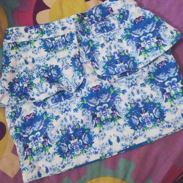 Zalora Something Borrowed Peplum Skirt