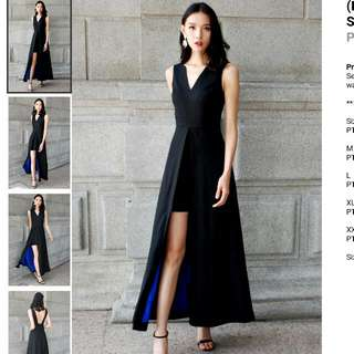 Looking For: Tiff Black/Blue Maxi - Exclusive (THEORY OF SEVEN - XL)
