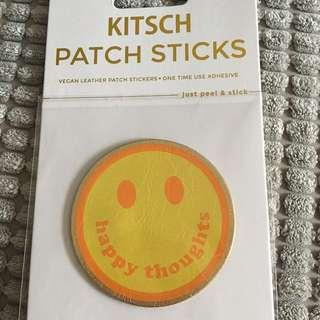 Vegan Leather Sticker Patch