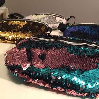 Handmade reversible Sequin Fanny Packs