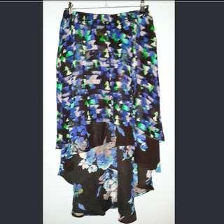 REPRICED! Kirna Zabete Bias-cut Printed Skirt