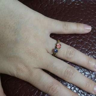 粉花紫鑽戒指。可分開