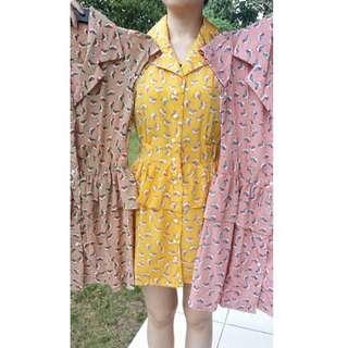 Summer Dress Bird Prints