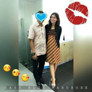 Our lovely Mba Dewi's wearing our Batik Dress Beautiful as always 😍😘