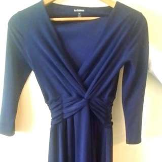 Navy Blue Dress From Le Chateau