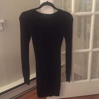 Long Sleeve Black American Apparel Dress