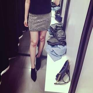 Zara 幾何圖 窄裙