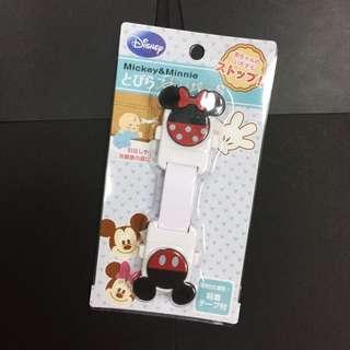 日本帶回迪士尼 米奇米妮兒童安全防護鎖 可彎式
