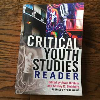 Critical Youth Studies Reader