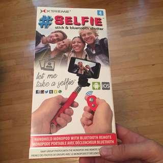 Selfie Stick With Remote Unopened Brand New
