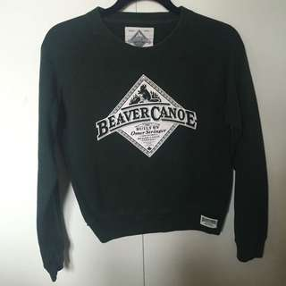 Green Roots Beaver Canoe Sweater