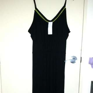 Gorgeous black n yellow maxi dress brand New