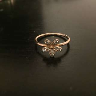 Selling Pandora Rose Gold Flower Ring Sz 58