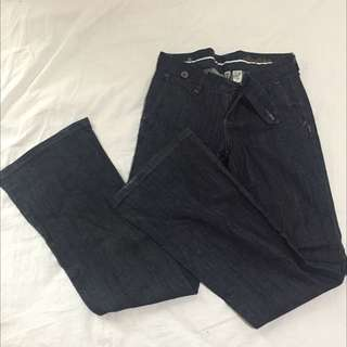 Mango Low Waist Flared Pants