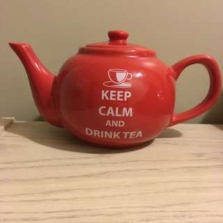 Keep Calm And Carry On Tea Pot