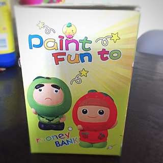 Strawberry Girl Paint It Yourself Coinbank