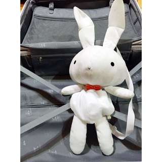 白兔子後背包可放手機.行動電源.小雨傘