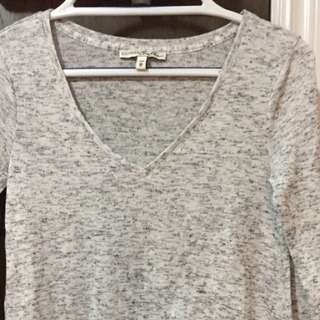 XS Express salt & pepper high low shirt