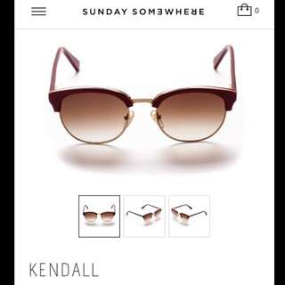 *REDUCED* RRP$290 SUNDAY SOMEWHERE Sunnies - Kendall Burgundy