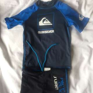 Quicksilver Swimming Top And Pacific Cliff Shorts