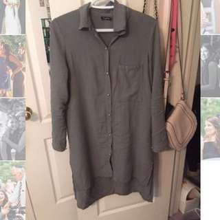 Khaki Shirt Dress WORN ONCE