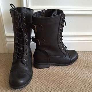 Women's Combat Boots WORN HANDFUL OF TIMES