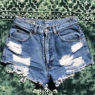**Pending** High Waisted Denim Shorts