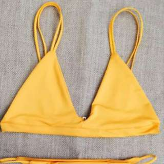 Spaghetti Strap Bikini Top - Orange