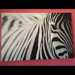 Zebra Painting From Ikea decor
