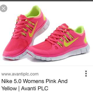 Nike 5.0 Pink And Yellow