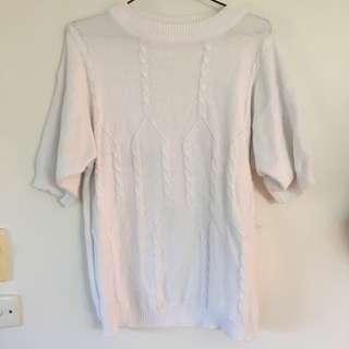 Vintage white knit shirt