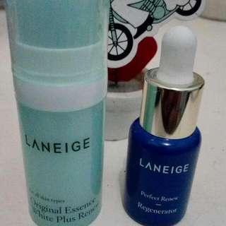 Laneige Serum Regenerator & White Plus Renew Essence