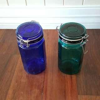 Sealed Glass Jars