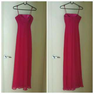 Fuchsia Evening Dress Size 6