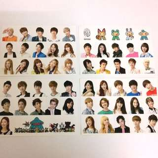 SMTOWN OFFICIAL STICKERS (2012)